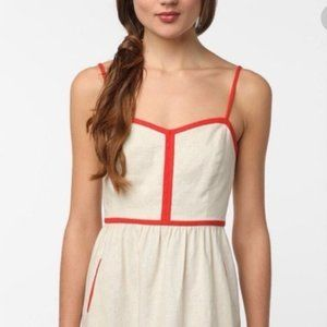 COPE Red/White Linen Dress